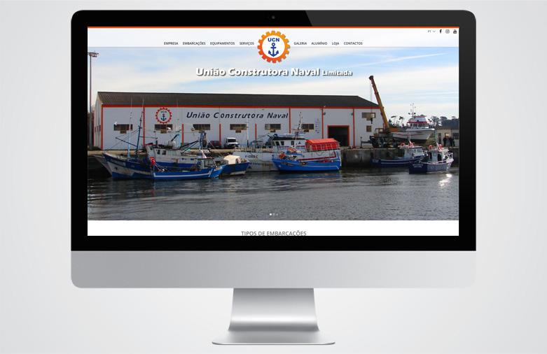 Website União Naval