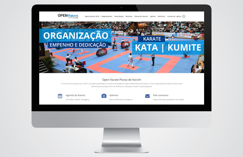 Website Open Karate Póvoa de Varzim