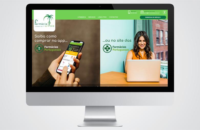 Website Farmácia da Praia