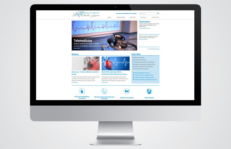 Website Clínica Cardiologia Dr. Machado Lemos