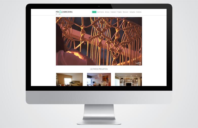 Website Pés & Cabeceira