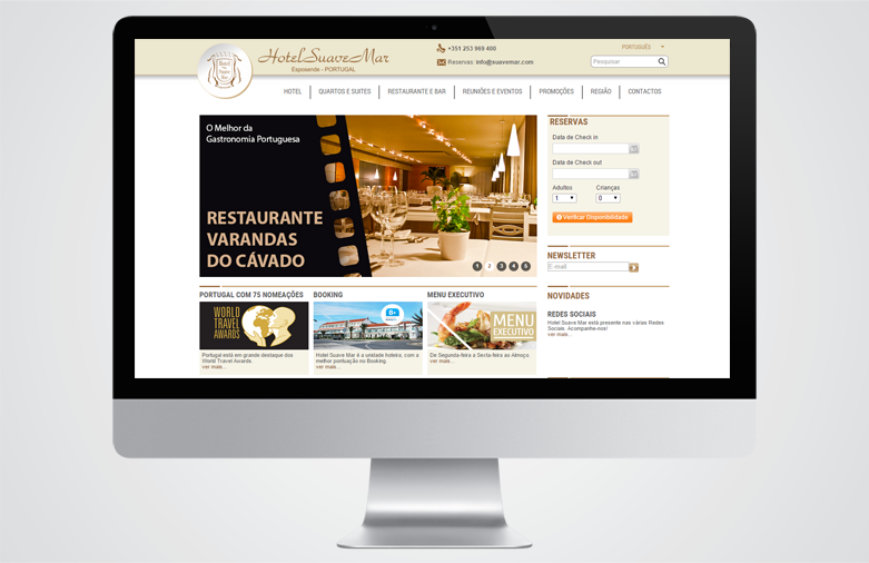 Website Hotel Suave Mar